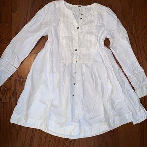 Free People Flowy Boho Dress Sz S White